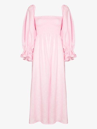 Atlanta linen midi dress