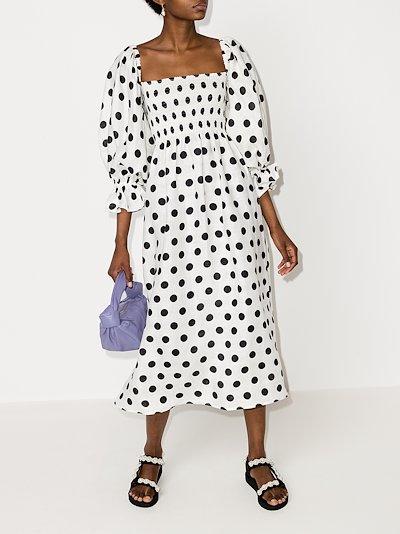 Atlanta polka dot midi dress