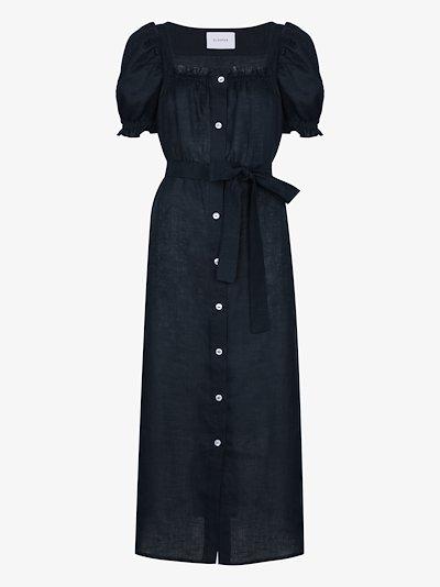 Brigitte linen midi dress