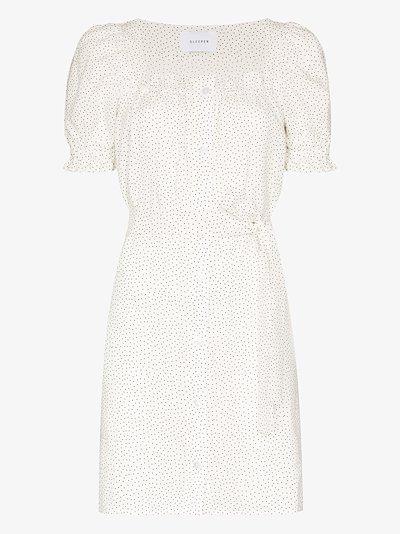 Brigitte polka dot mini dress