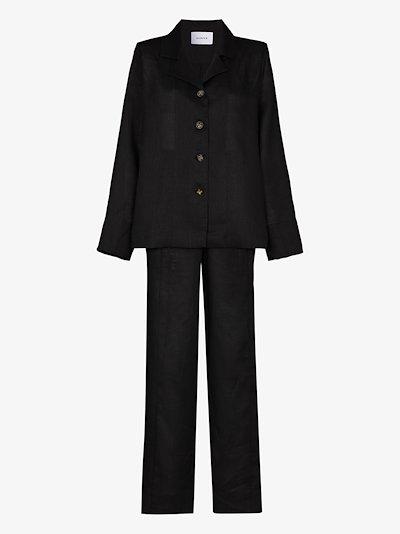 button-up linen pyjamas
