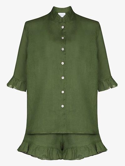 ruffled linen pyjamas
