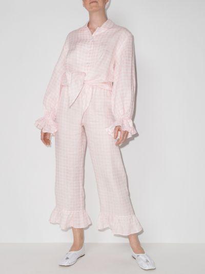 Rumba gingham linen pyjamas
