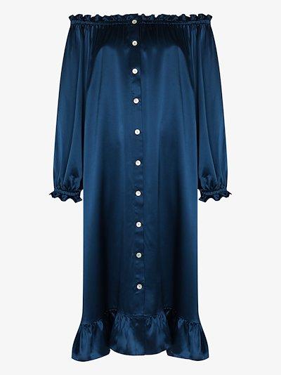 silk loungewear dress