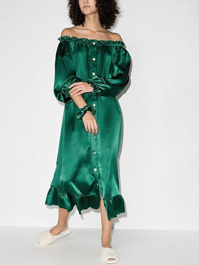 silk satin loungewear dress