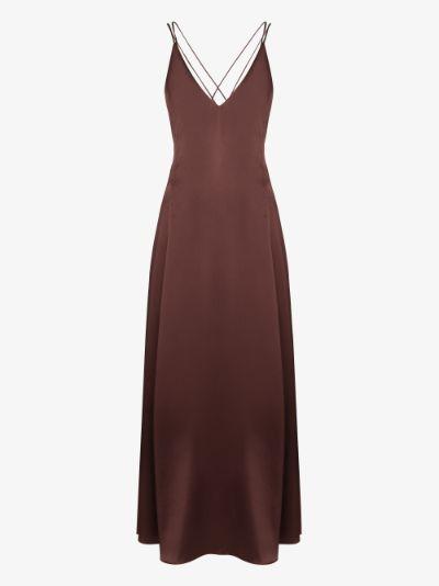 Freudian V-neck silk slip dress