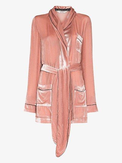 The Bon Vivant velvet robe