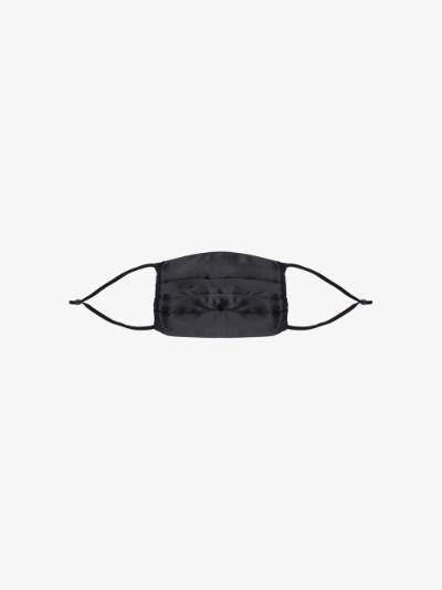Black pintuck Silk Face Mask