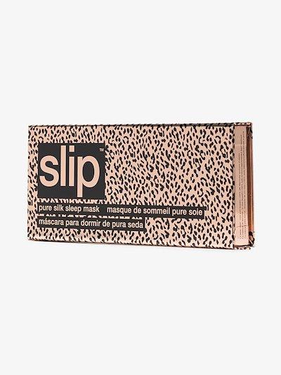 pink leopard print silk eye mask