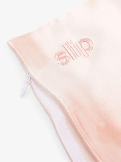 pink Queen tie-dye silk pillowcase