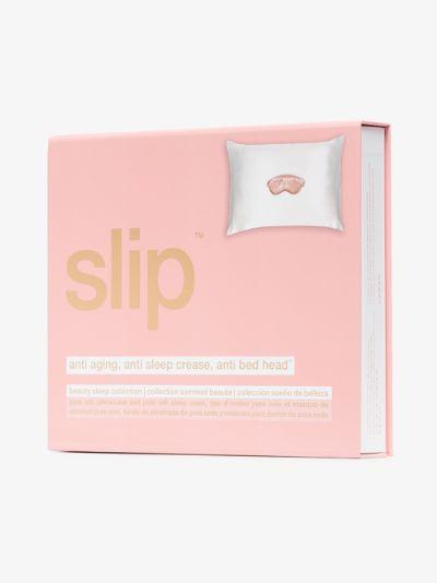 white Beauty Sleep To Go silk travel set