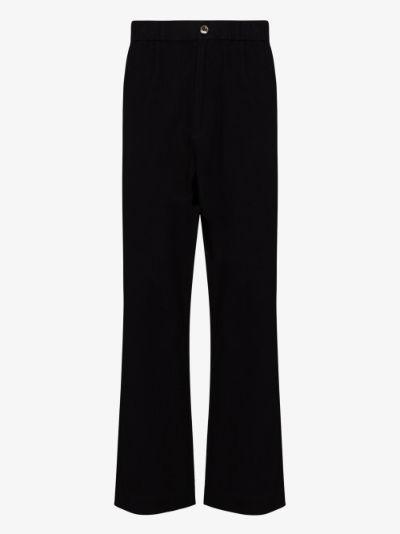 black Organic cotton trousers