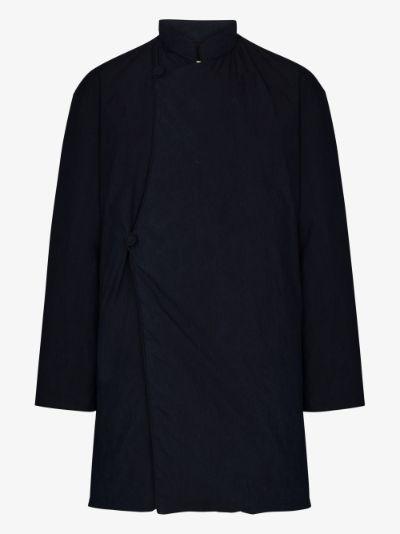 Blue Padded crossover jacket