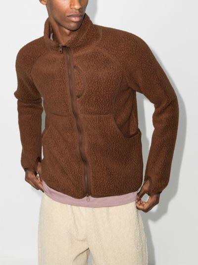 brown Polartec fleece jacket
