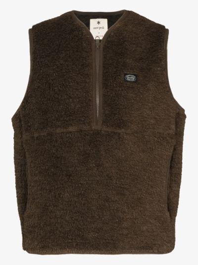 Brown Wool Fleece gilet