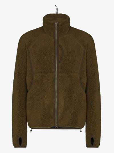 green Polartec fleece jacket