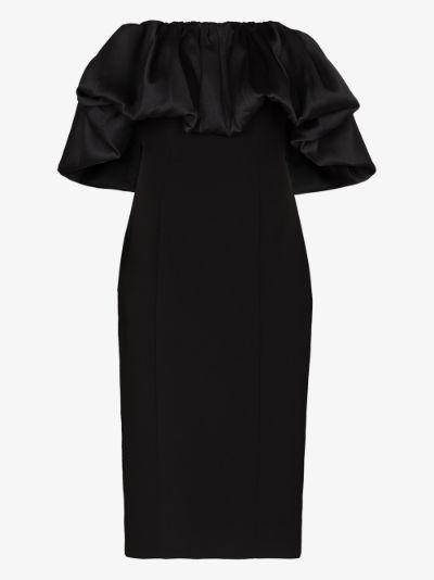 Raina off-the-shoulder midi dress