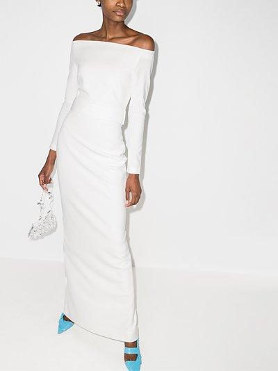 Sabina off-the-shoulder maxi dress