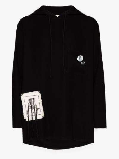 Big Bird patch pocket hoodie