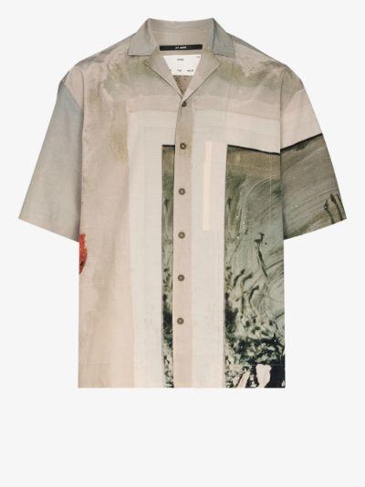Box printed short sleeve shirt