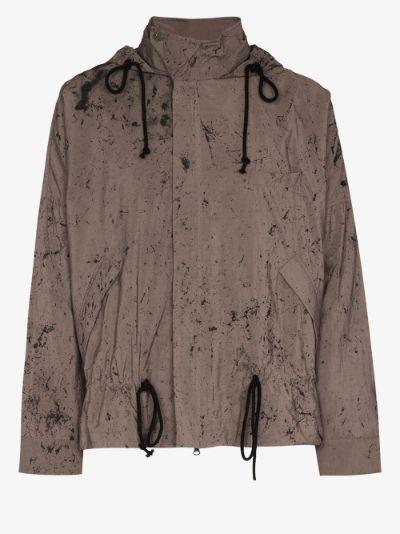 paint splatter windbreaker jacket