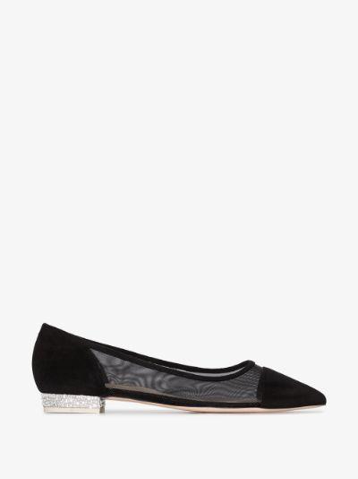 black Jasmine 15 crystal heel pumps