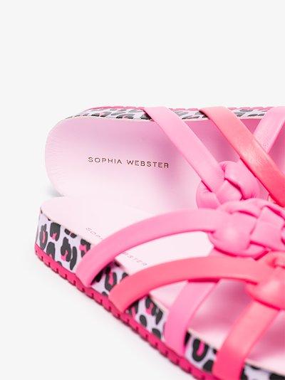 pink Ramona leopard print sandals