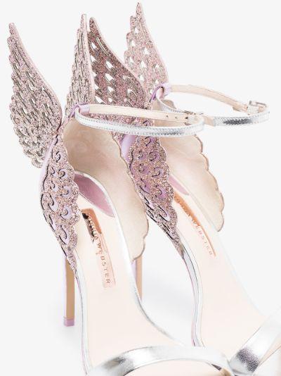 purple Evangeline 100 butterfly sandals