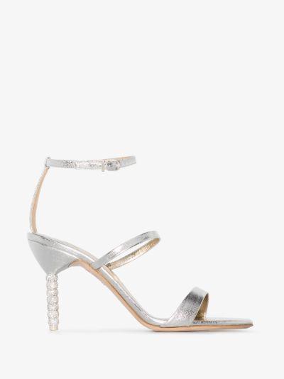 Silver Rosalind 85 Crystal Embellished Sandals