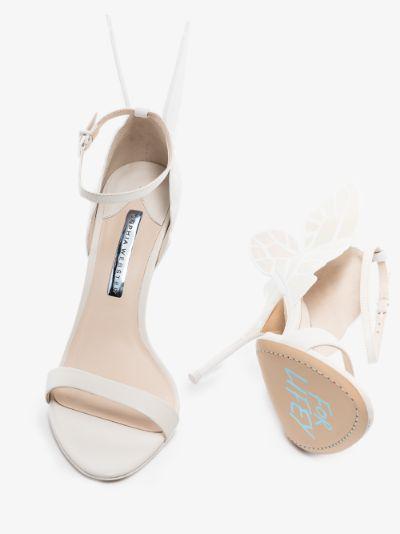 White Chiara 100 Leather Sandals