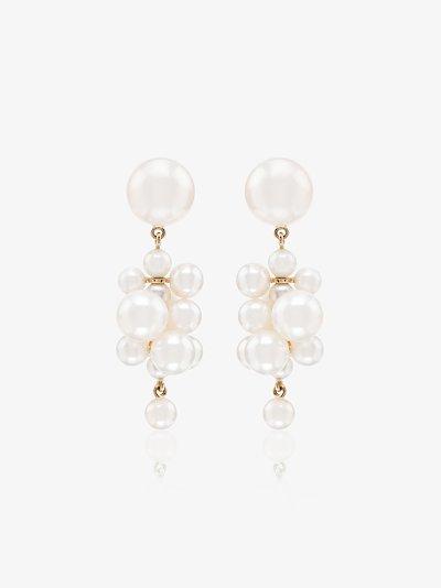 14K yellow gold Botticelli pearl drop earrings