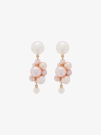 14K yellow gold Botticelli pearl earrings