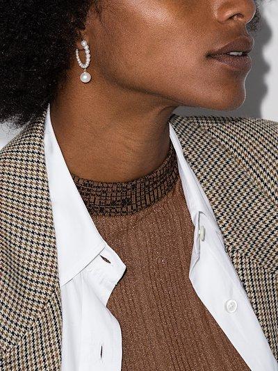 14K yellow gold Boucle Marco pearl earrings