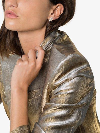 14K yellow gold Federico pearl earring