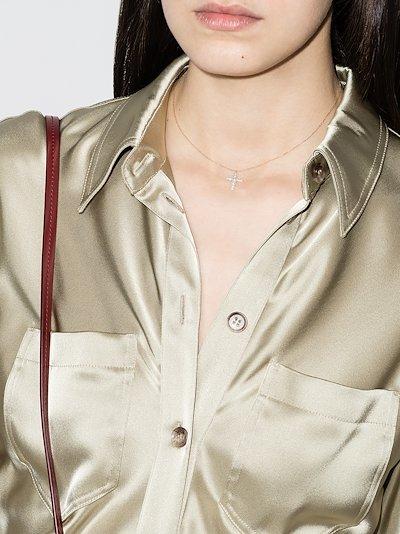 14K yellow gold Fellini pearl cross necklace