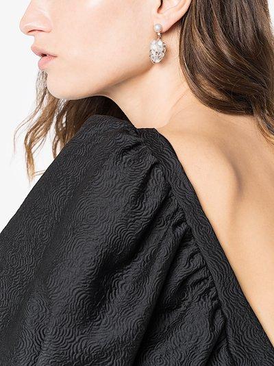 14K yellow gold Grappolo diamond earrings