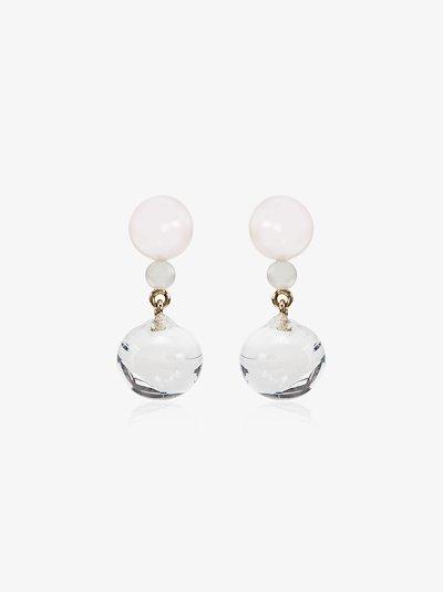 14K yellow gold Guidecca pearl drop earrings