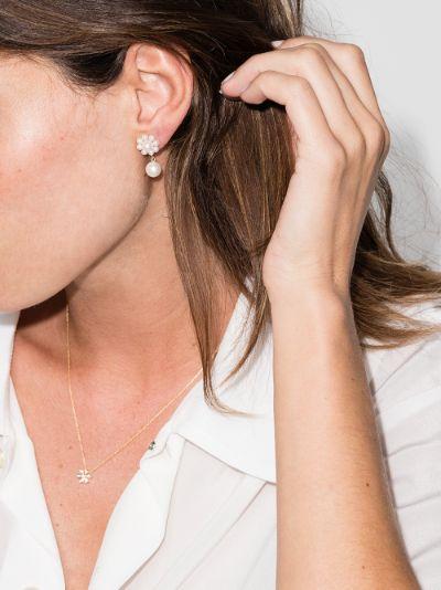 14K yellow gold Margherita pearl earrings