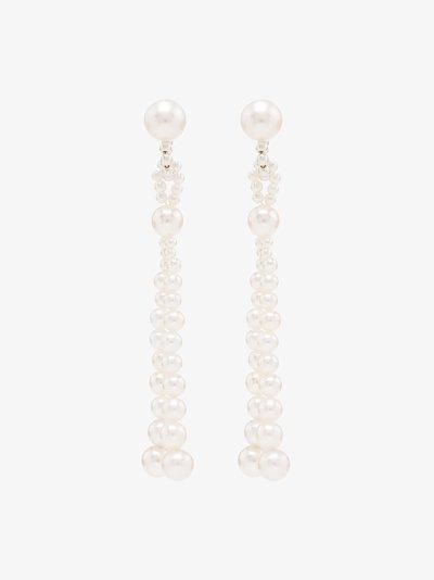 14K Yellow Gold Opera Pearl Earrings