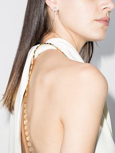 14K Yellow Gold petite nuit pearl earrings