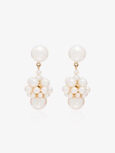 14K yellow gold Poire pearl drop earrings