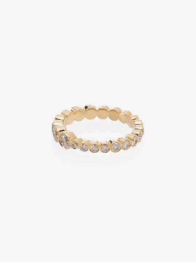 18K yellow gold Croissant Diamond Ring