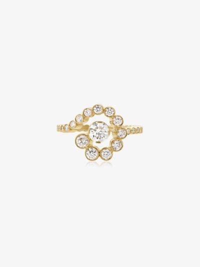 18K yellow gold Escargot de Diamant diamond ring