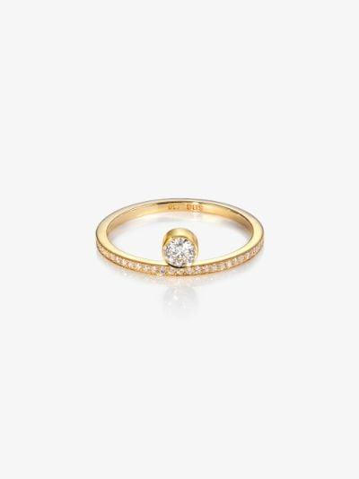 18K yellow gold Grand Rue Du Soleil diamond ring