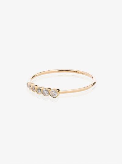 18K yellow gold Pleine De Lune diamond ring