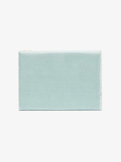 light blue velvet jewellery box