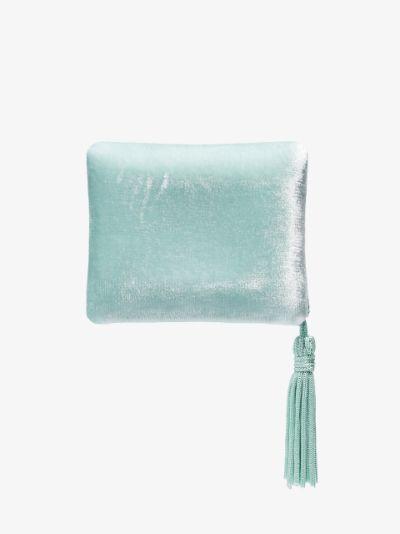 light blue velvet tassel jewellery box