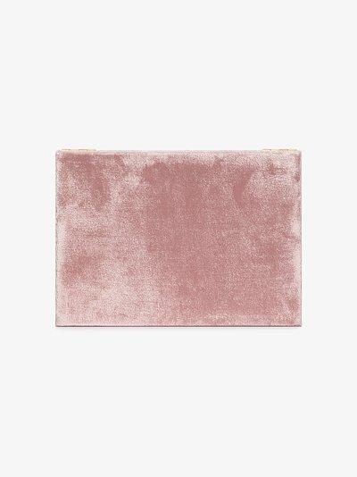 Pink velvet jewellery box