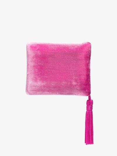 pink velvet tassel jewellery box