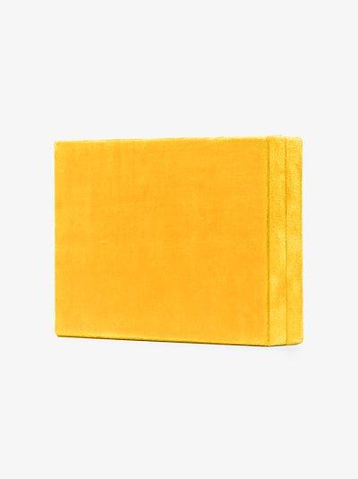 yellow velvet jewellery box